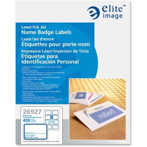 Elite Image Laser/Inkjet Name Badge Labels
