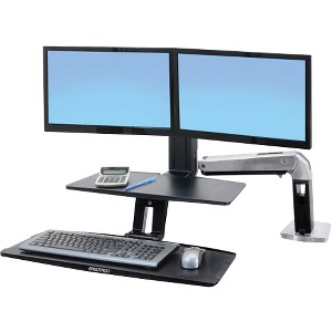Ergotron 2439226 WorkFit-A Dual Monitor Stand
