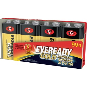 Eveready Gold Alkaline 9-Volt Batteries