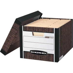 Bankers Box R-Kive® - Letter/Legal, Woodgrain