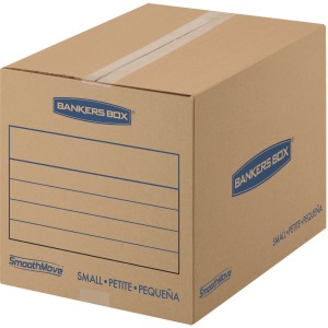 "Fellowes Bankers Box® SmoothMove™ Basic Moving Boxes, Small Size, Kraft,Blue, 12""H x 12""W x 16""D, 25 / Pack"