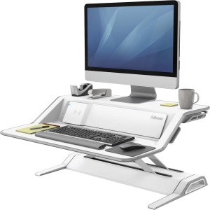 Fellowes Lotus™ DX Sit-Stand Workstation - White