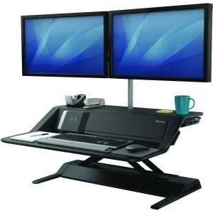 Fellowes Lotus™ DX Sit-Stand Workstation - Black