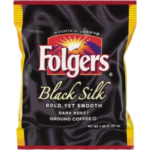 Folgers Black Silk Ground Coffee Fraction Pack Ground