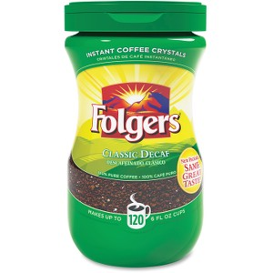 Folgers Classic Decaffinated Instant Coffee Crystals