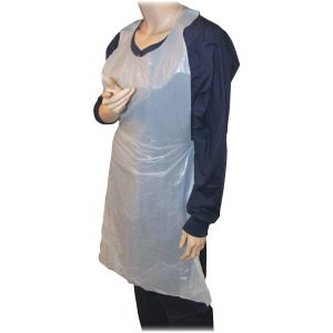 "Genuine Joe 50"" Disposable Poly Apron"
