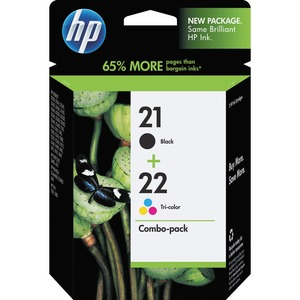 HP 21 Black/22 Tri-color 2-pack Original Ink Cartridges