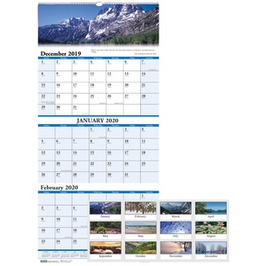 House of Doolittle Earthscapes Scenic 3-mth Wall Calendar