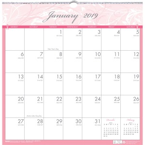 House of Doolittle BCA Wirebound Monthly Wall Calendar