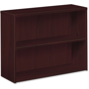 HON 10500 Series Mahogany Laminate Fixed Shelves Bookcase