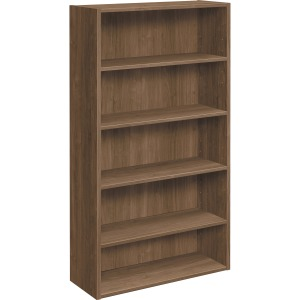 HON Foundation Five-shelf Laminate Bookcase