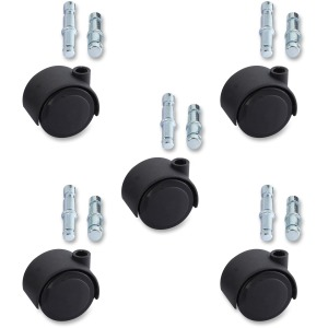 Lorell Premium Dual Soft Wheel Casters Set