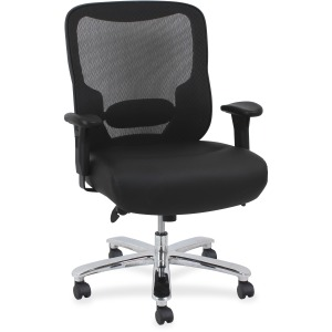 Lorell Big & Tall Mid-back Leather Guest Chair