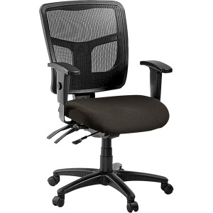 Lorell ErgoMesh Series Managerial Mid-Back Chair