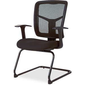 Lorell ErgoMesh Series Mesh Side Arm Guest Chair