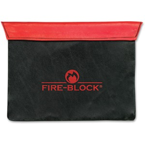 MMF Fire-Block Carrying Case (Portfolio) Document - Red, Black