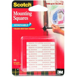 Scotch Double-stick Foam Mounting Squares