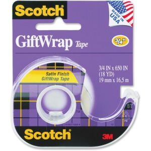 Scotch Satin Finish GiftWrap Tape