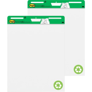 Post-it® Easel Pad made with Recycled Paper, 25