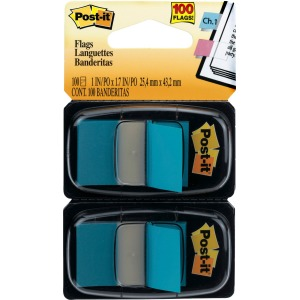 "Post-it® Flags, 1"" Wide, Bright Blue 2-pack"