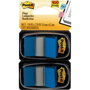 "Post-it® Flags, 1"" Wide, Blue 2-pack"
