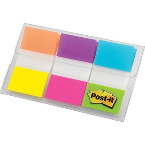 "Post-it® Flags, 1"" Wide, Brights"