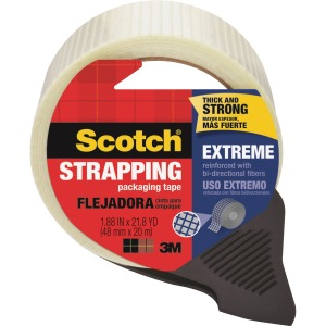 "Scotch® Strapping Tape Extreme Shipping, 1.88"" x 65.4'"