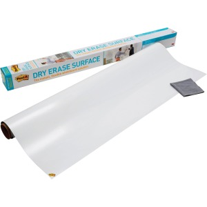 Post-it Super Sticky Self-Stick Dry Erase Film Surface, 36 x 24, White
