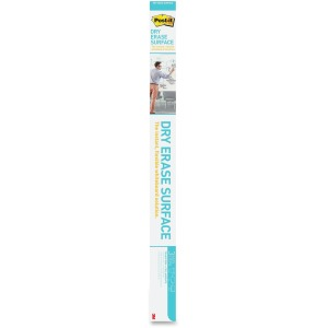 Post-it Super Sticky Self-Stick Dry Erase Film Surface, 96 x 48, White