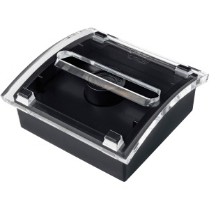 "Post-it® Pop-up Notes Dispenser, 3""x 3"", Black Base Clear Top"