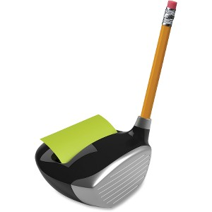 "Post-it® Pop-up Note Dispenser, 3"" X 3"" Notes, Golf Themed"