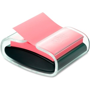 Post-it® Pop-up Note Dispenser, Black/Translucent