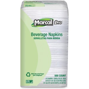 Marcal Pro 100% Recycled Beverage Napkins