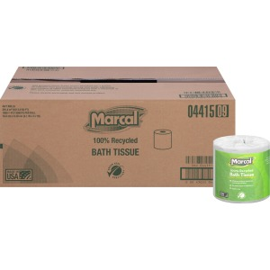 Marcal 100% Recycled, Long-Lasting Bath Tissue