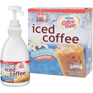 Nestle&reg Coffee-Mate® French Vanilla Iced Coffee - 1.5L Liquid Pump Bottles