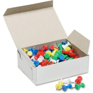 SKILCRAFT Colorful Plastic Head Pushpins