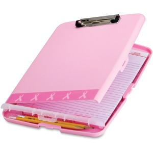 Breast Cancer Awareness BCA Slim Clipboard Storage Box