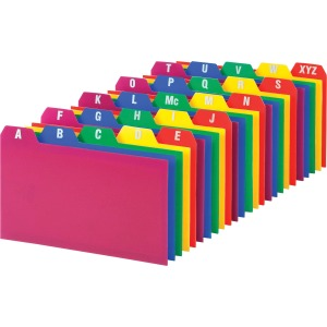 "Printed Tab(s) - Character - A-Z - 5 Tab(s)/Set - 5"" Divider Width x 3"" Divider Length - Assorted Divider - 25 / Set"