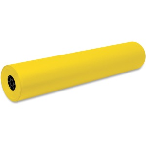 "Art, Classroom, Office, Banner, Bulletin Board - 36"" x 1000 ft - 1 Roll - Yellow - Sulphite"