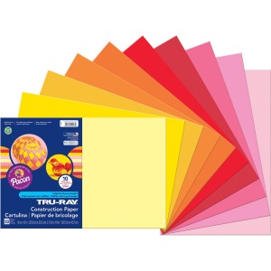 "Project, Bulletin Board - 18"" x 12"" - 50 / Pack - Warm Assorted - Paper"