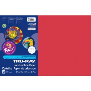 "18"" x 12"" - 50 / Pack - Holiday Red - Sulphite"