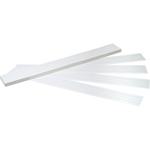 "3""H x 24""W - Dual-Sided - 1.5"" Rule/Single Line Rule - 100 Strips/Pack - White"