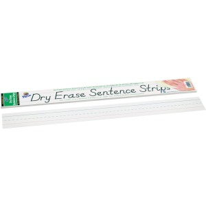 "3""H x 24""W - 1.5"" Ruled - Dry Erase - 30 Strips/Pack - White"