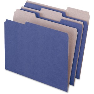 1/3 Tab Cut - Assorted Position Tab Location - 11 pt. Folder Thickness - Paper Stock - Violet - 100 / Box