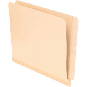 "Letter - 8 1/2"" x 11"" Sheet Size - 11 pt. Folder Thickness - Poly - Manila - Recycled - 100 / Box"