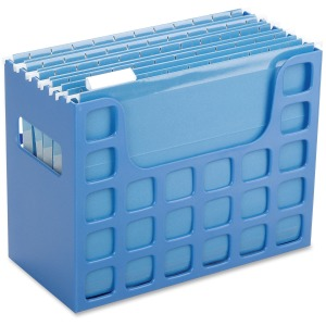 "9.5"" Height x 12.2"" Width x 6"" Depth - Desktop, Counter, Drawer - Blue - Plastic - 1Each"