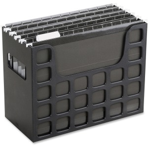 "9.5"" Height x 12.2"" Width x 6"" Depth - Desktop, Counter, Drawer - Black - Plastic - 1Each"