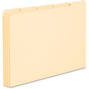"Blank, Write-on Tab(s) - 8.5"" Divider Width x 11"" Divider Length - Letter - Manila Manila Divider - Manila Tab(s) - 100 / Box"