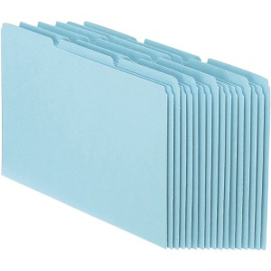 "Write-on Tab(s) - 0.50"" Tab Height - Letter - 8 1/2"" Width x 11"" Length - Manila Manila Divider - 100 / Box"