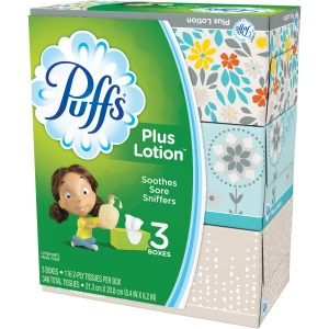 Puffs Plus Lotion Facial Tissues 3/Pack
